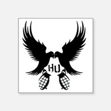 """Dove and Grenade Hollywood Square Sticker 3"""" x 3"""""""