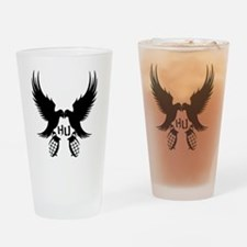 Dove and Grenade Hollywood Undead Drinking Glass