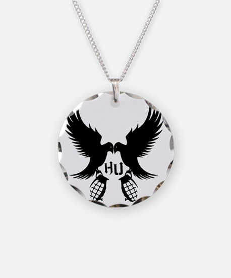 Dove and Grenade Hollywood U Necklace