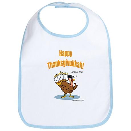 Happy Thanksgivukkah Turkey Bib