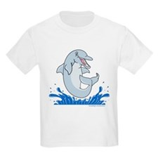 The Happy Dolphin Jump Kids T-Shirt