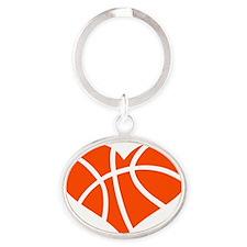 basketball_heart_OL Oval Keychain