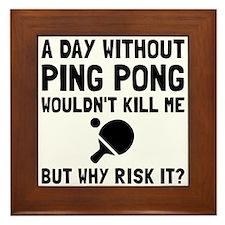 Risk It Ping Pong Framed Tile