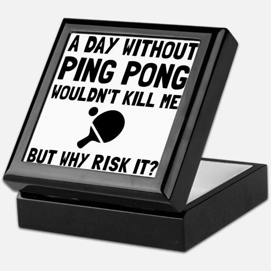 Risk It Ping Pong Keepsake Box