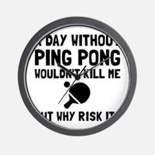 Risk It Ping Pong Wall Clock