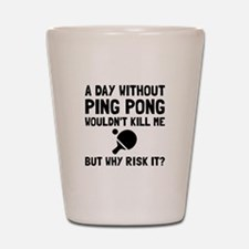 Risk It Ping Pong Shot Glass