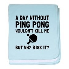 Risk It Ping Pong baby blanket