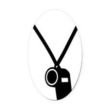 whistle Oval Car Magnet