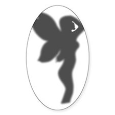 Shower Fairy Silhouette Decal