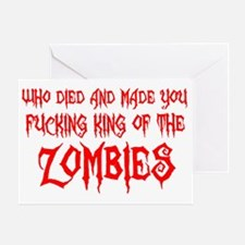 king of the zombies Greeting Card