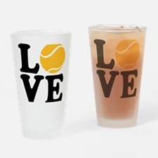 tennis_love_2l Drinking Glass