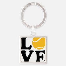 tennis_love_2l Square Keychain