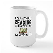 Risk It Reading Mugs