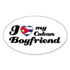 Cuban boy friend Oval Decal