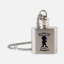 Clocktown Bombers Blue Flask Necklace