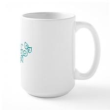 breathe yoga wellness blue Mug