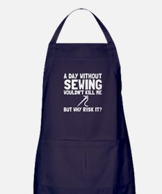 Risk It Sewing Apron (dark)