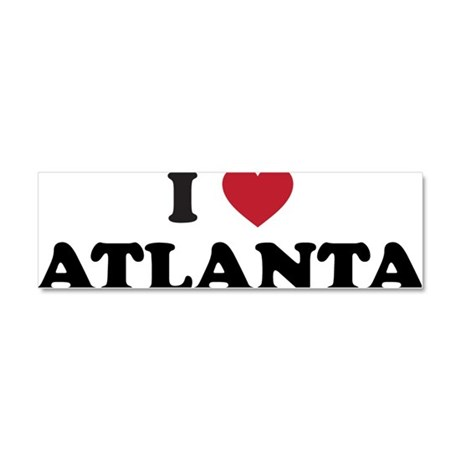 I Love Atlanta Georgia Car Magnet 10 x 3