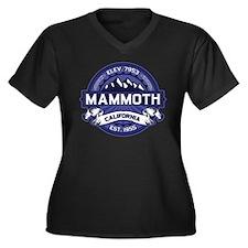 Mammoth Midnight Women's Plus Size V-Neck Dark T-S