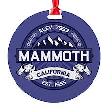Mammoth Midnight Round Ornament