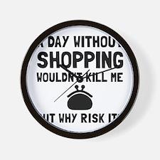 Risk It Shopping Wall Clock