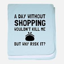 Risk It Shopping baby blanket