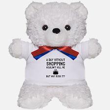 Risk It Shopping Teddy Bear