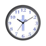 Blue Cross Wall Clock