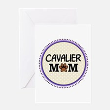Cavalier Dog Mom Greeting Cards