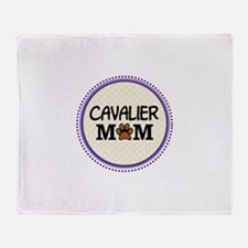 Cavalier Dog Mom Throw Blanket