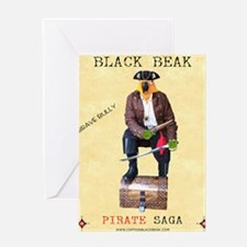 Brave Bully Black Beak Poster Greeting Card