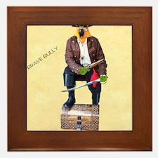 Brave Bully Black Beak Poster Framed Tile