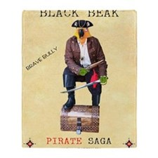 Brave Bully Black Beak Poster Throw Blanket