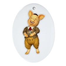 iPHONE4SLIDERlaughingpig Oval Ornament