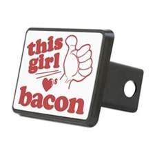 Girl Loves Bacon Hitch Cover