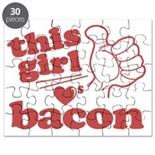 Girl Loves Bacon Puzzle
