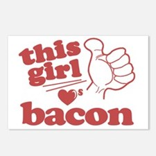 Girl Loves Bacon Postcards (Package of 8)
