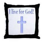 Blue Cross Throw Pillow