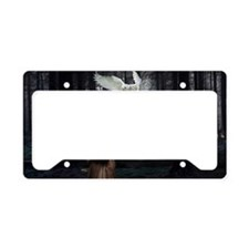 Owl Lady License Plate Holder