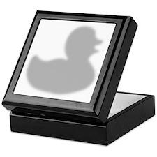 Rubber Duck silhouette Keepsake Box