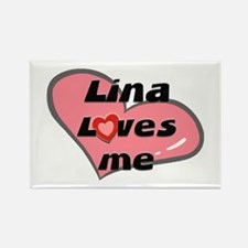 lina loves me Rectangle Magnet
