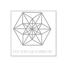 """vector equilibrium Square Sticker 3"""" x 3"""""""