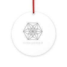 vector equilibrium Round Ornament