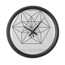 vector equilibrium Large Wall Clock