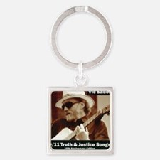 vic_sadot_911truthjusticesongs_cov Square Keychain