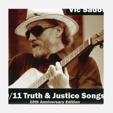 vic_sadot_911truthjusticesongs_cover6 Tile Coaster