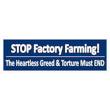 Stop Factory Farming - Bumper Car Sticker