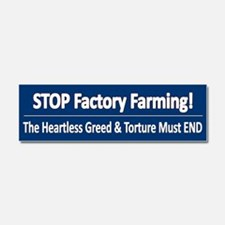 Stop Factory Farming Car Magnet 10 X 3