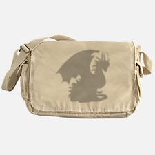 Dragon silhouette shower curtain Messenger Bag