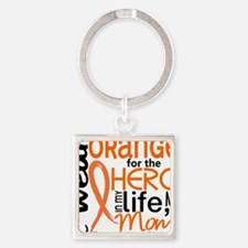 D Mom Square Keychain